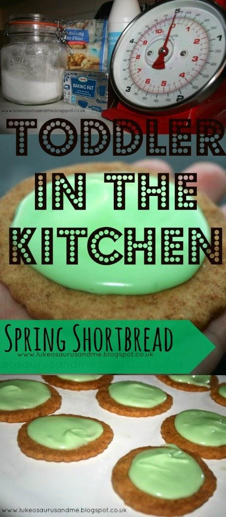 Toddler In The Kitchen: Spring Shortbread // www.lukeosaurusandme.blogspot.co.uk