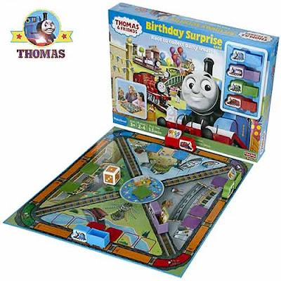 Childrens educational colorful Thomas train & Friends Birthday Surprise railway board Game toy