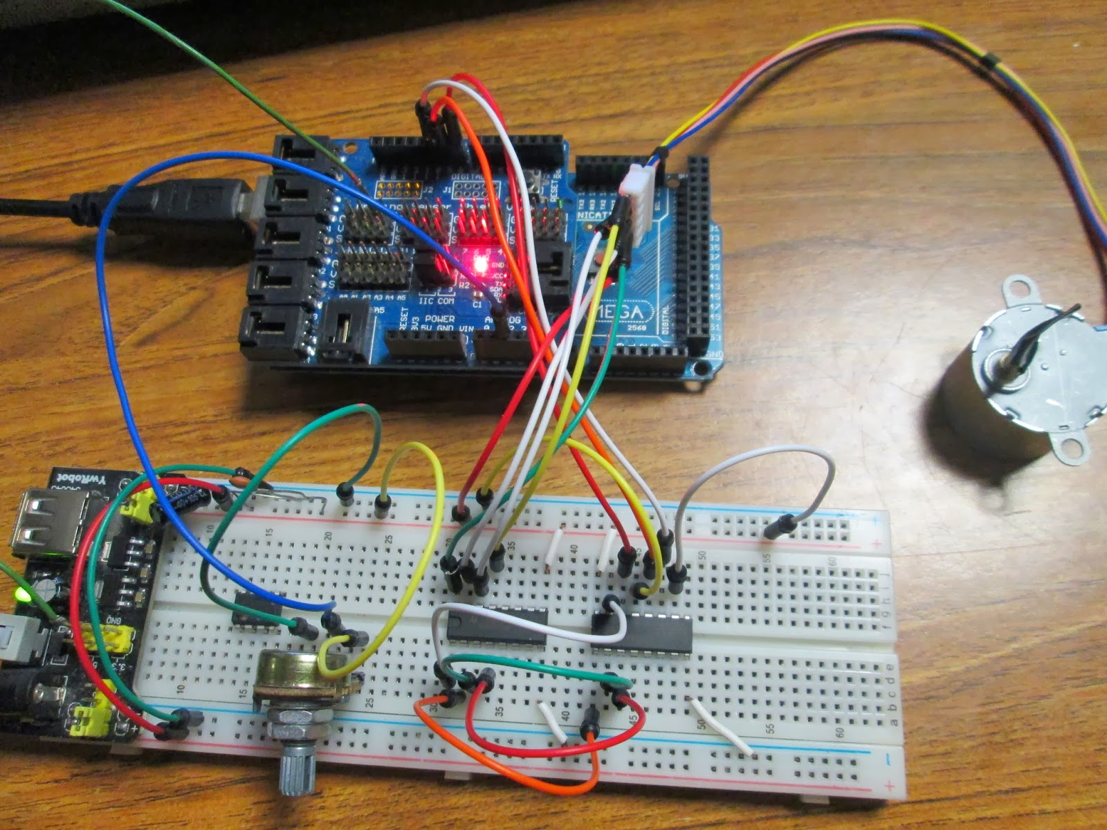 Projects From Tech Arduino Shift Register Stepper Motor Controller Home Images Pi Circuit Png Around 10 Seconds A Revolution I Suppose Shouldnt Have Expected Much More Considering All The Delays Puts Into System