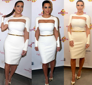 Kim Kardashian Cut-Out White Dress 2013