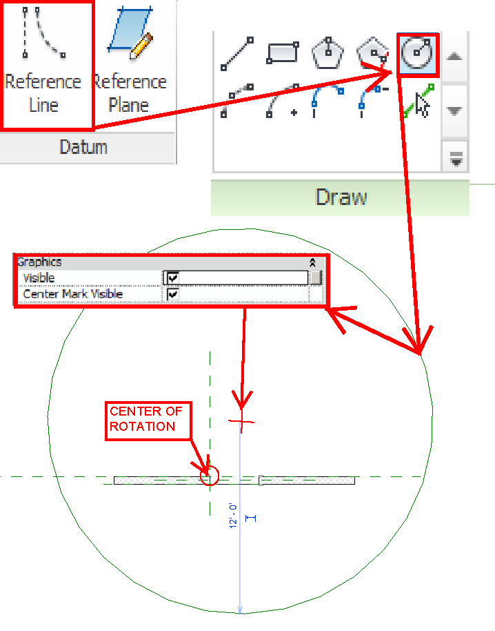 how to draw circle in revit