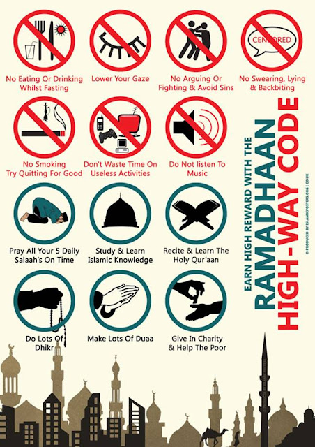 ramadhan, fasting, islamik, muslim, papan, tanda, simbol, don't, waste, time, music