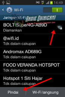 Cara akses BBM Dengan WIFI