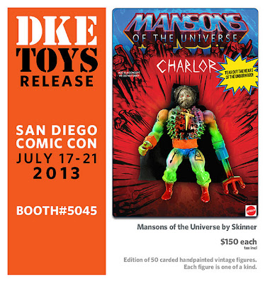 San Diego Comic-Con 2013 Exclusive Charlor Mansons of the Universe Action Figure by Skinner