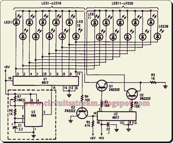 simple light chaser i circuit diagram electronic circuit diagrams schematics
