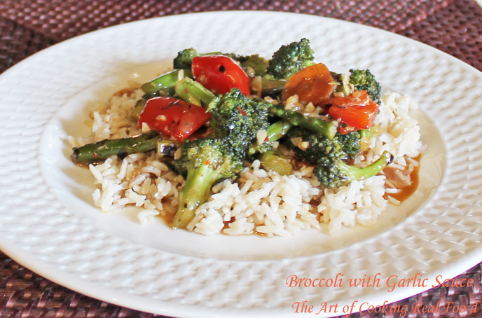 Broccoli and garlic sauce rice