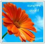 Sunshine award gekregen van Cynthia