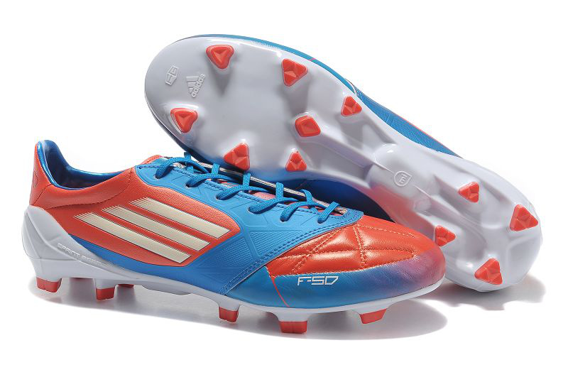 huge discount 0e2c9 0ee48 ... coupon code 2012 adidas f50 adizero micoach leather trx fg black red  blue white soccer boots