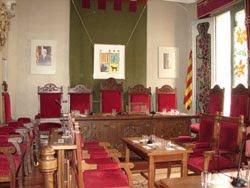 Salón de sesiones del Ayuntamiento de Canet de Mar