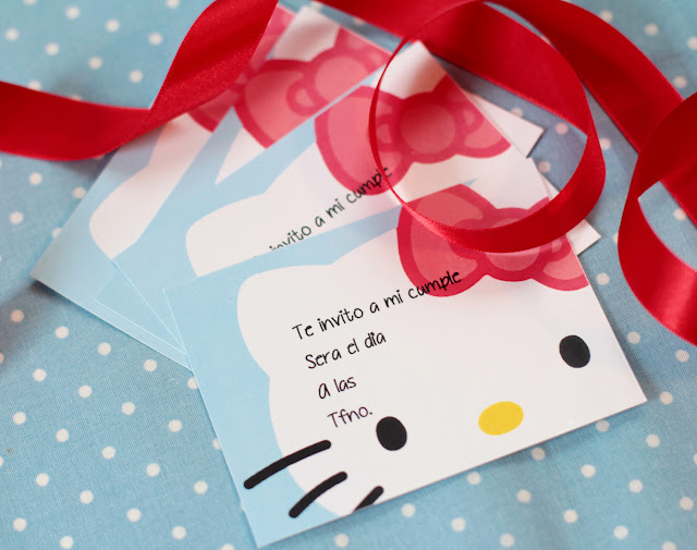 Invitaciones de Hello Kitty