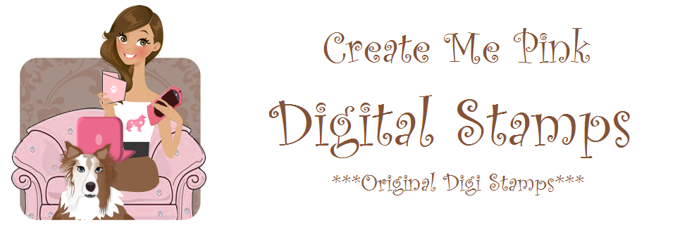 Create Me Pink Digital Stamps