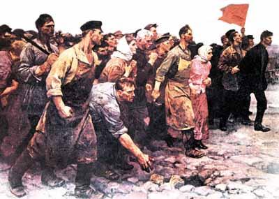 imagem da revolução russa, revolução liderada por stalin