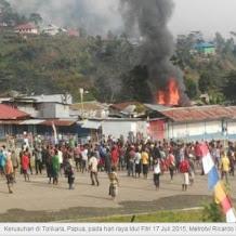 Masjid Umat Islam di Tolikora Papua Dibakar Saat Idul Fitri