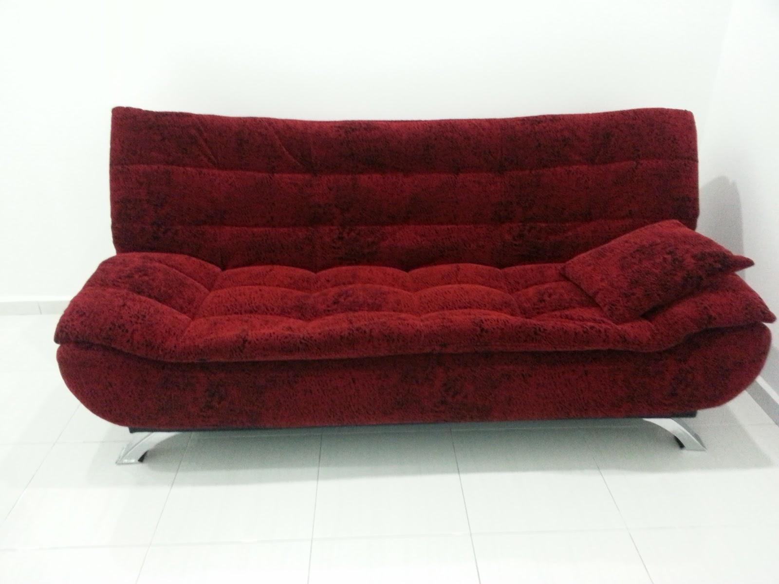 faizaleda: Sofa Bed Merah Dan Almari Baju Putih
