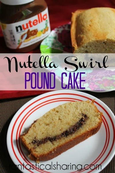 Nutella Swirl Pound Cake | Pound cake with a hint of cinnamon and a #Nutella center!