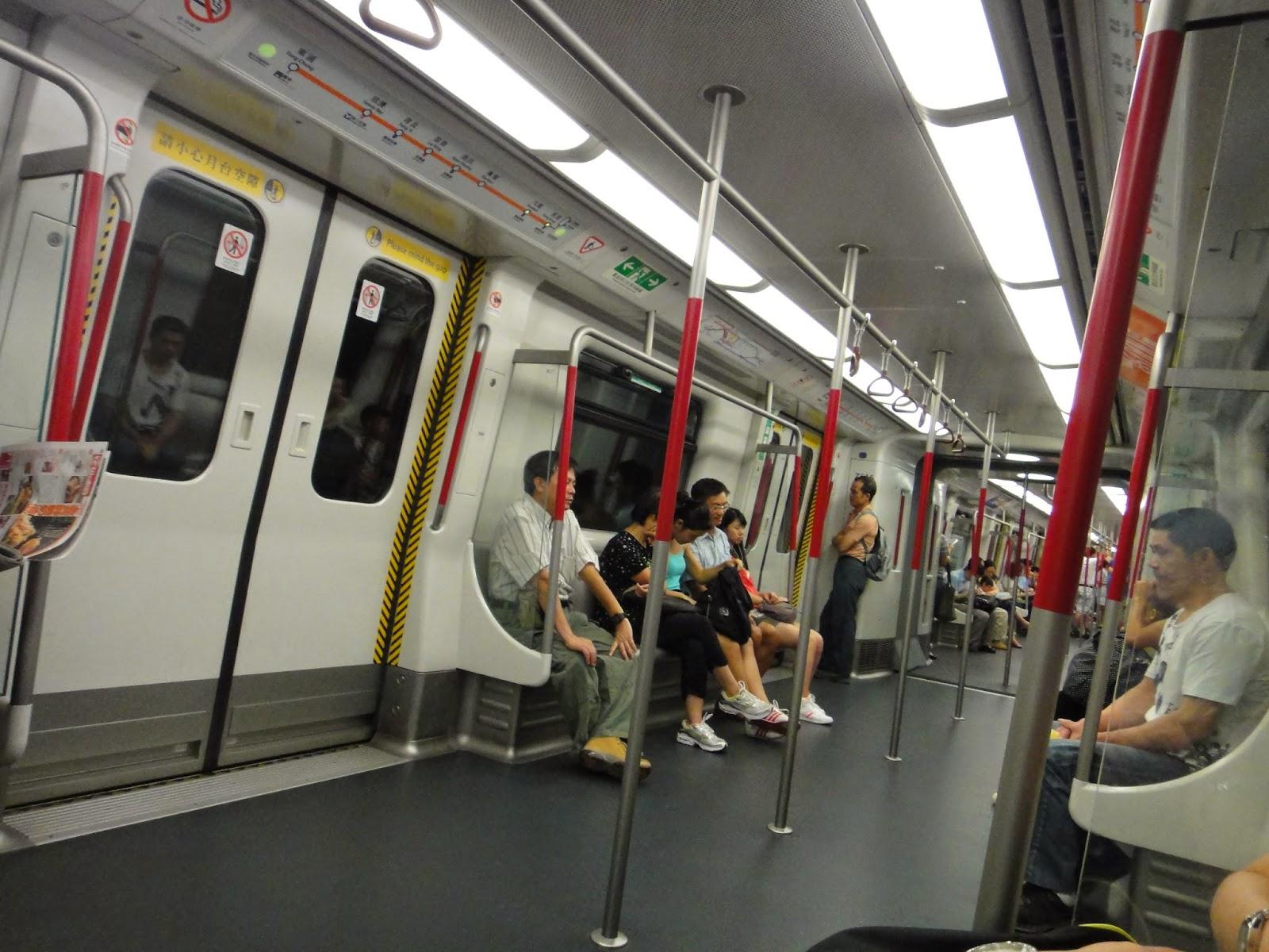 Inside Hong Kong subway MTR