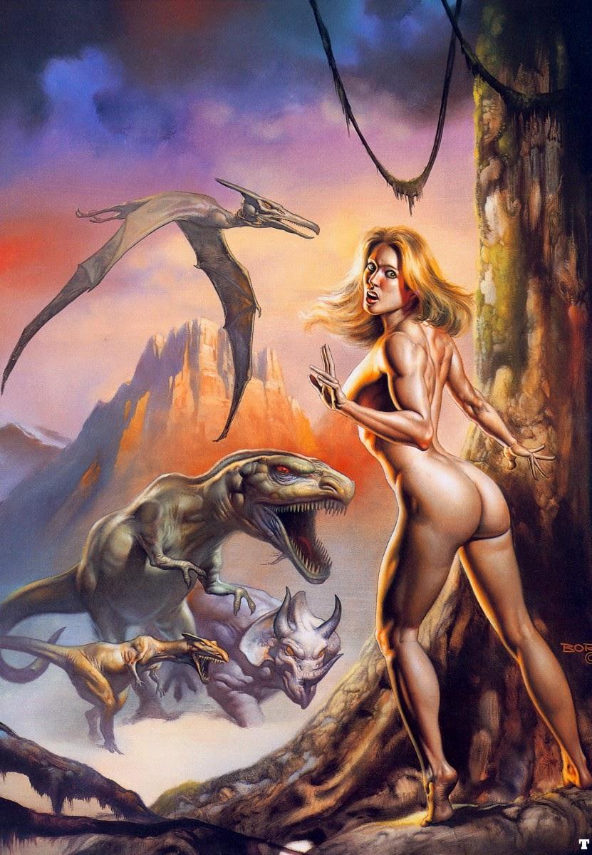 pintura mulher e dragão