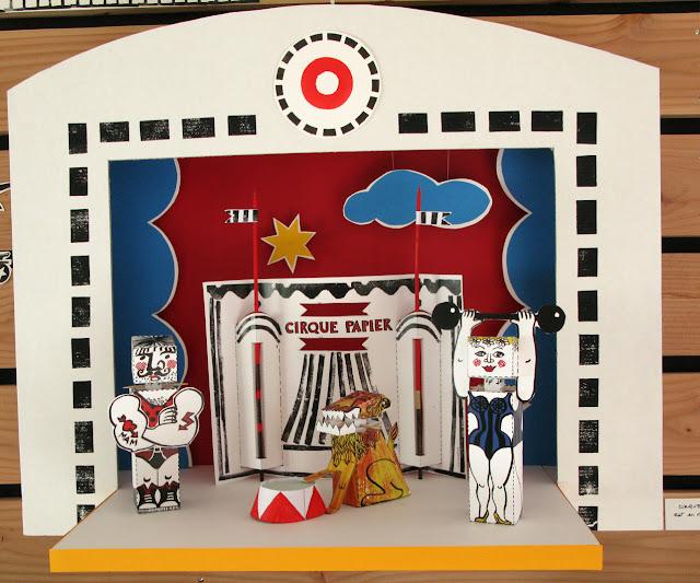 Cirque papier de Brigitte Rio - maquette 1