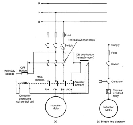 Protection Circuit For Induction Motor
