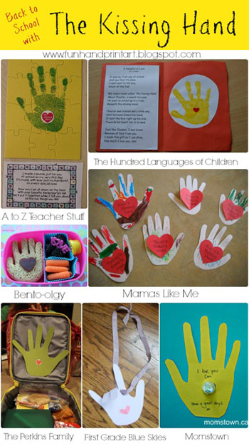 The Kissing Hand Crafts #backtoschool #handprint