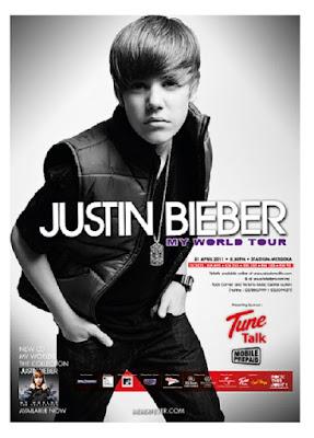 Justin Bieber concert in Malaysia stadium merdeka