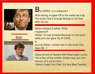 Bill gates and his son