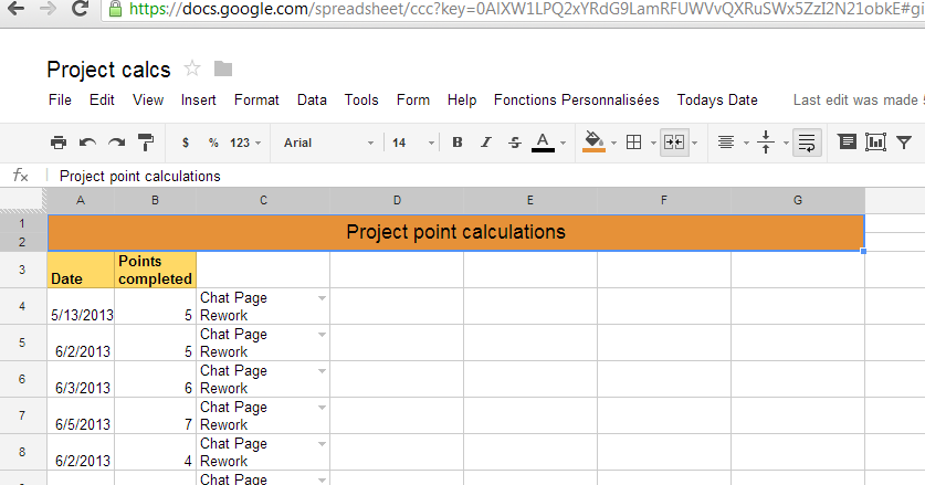 Google spreadsheet query example