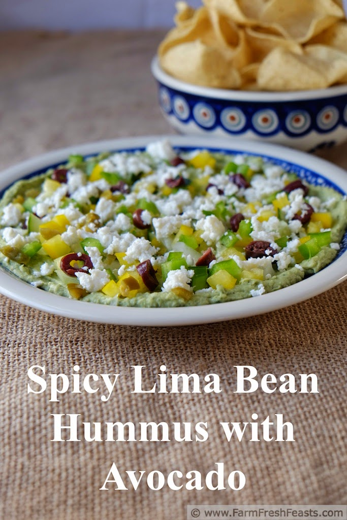 Farm Fresh Feasts: Spicy Lima Bean Dip with Avocado