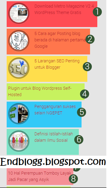 Cara membuat Popular posts warna warni