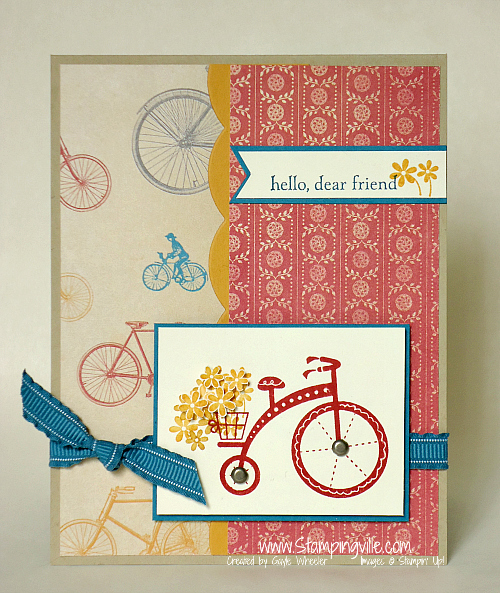 This cute stamp set helps a worthy cause. Love that! #cardmaking #rubberstamping #StampinUp #Stampingville