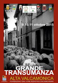 Grande Transumanza  dal 9 all'11 Ottobre  Valcamonica (BS)