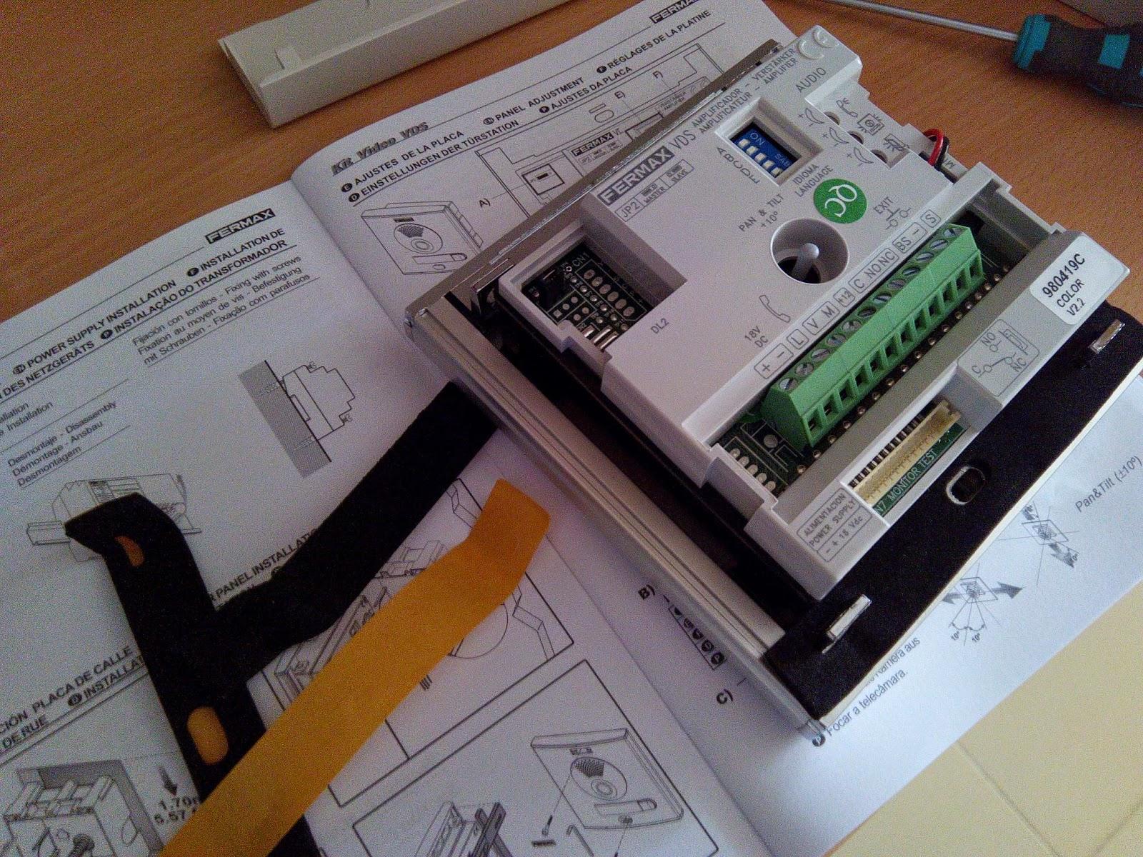 Retropasado instalaci n videoportero fermax - Instalacion de videoportero ...