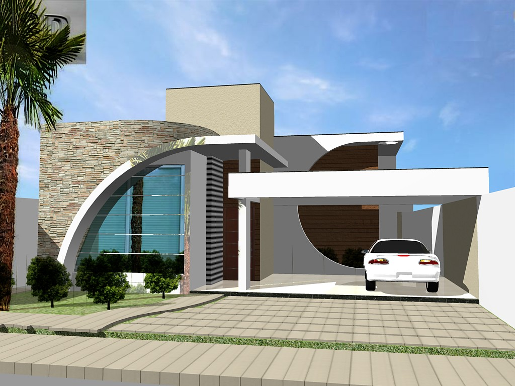 3danilo maquetes eletr nicas 3d casas em guanambi ba for Fachadas de casas ultramodernas