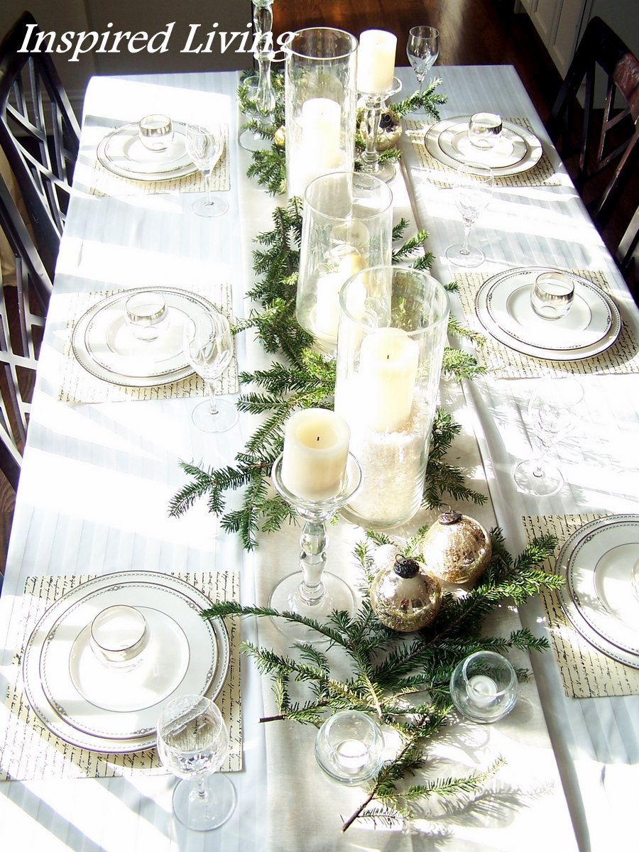 Inspired Living Christmas Tablescape