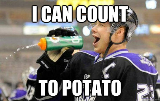 I Can Count To Potato (Hockey Players)