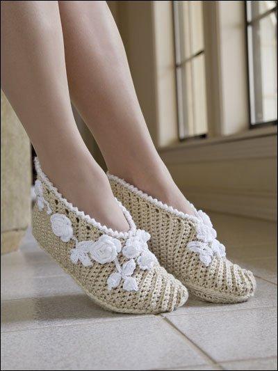 Zapatillas     Crochet Con Material De Rafia  Paso A Paso