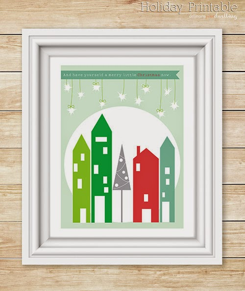 free christmas printable merry-little-christmas