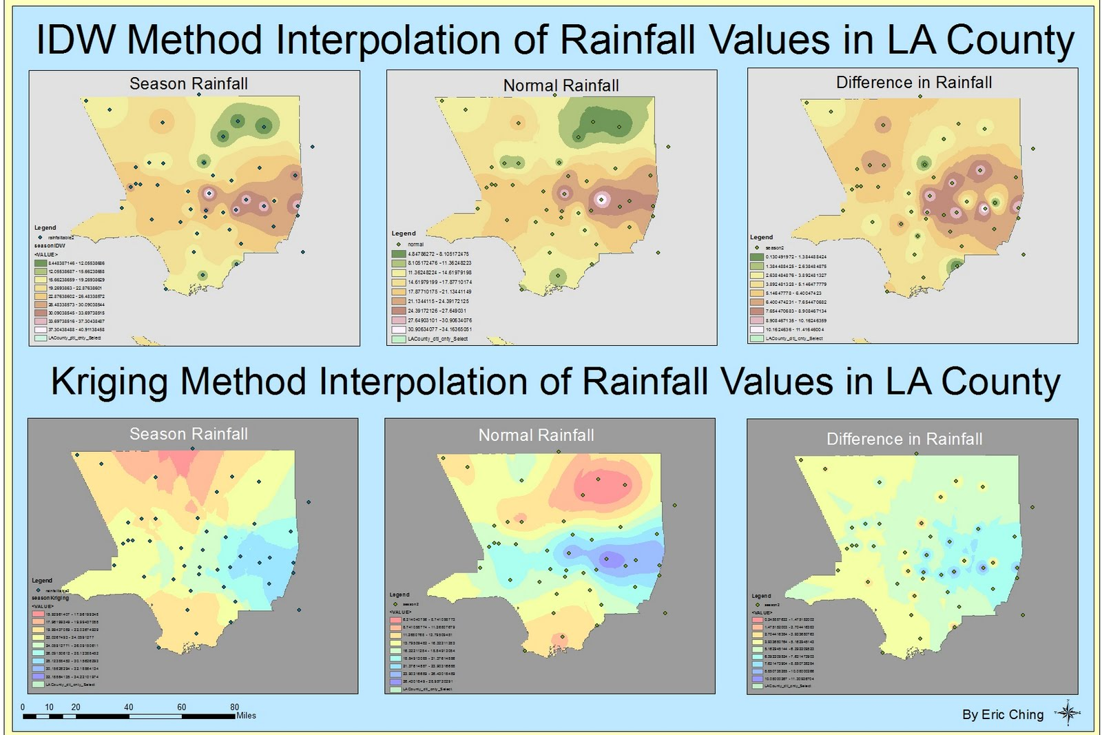 this week s lab required us to estimate unknown values with known values and this process is called spatial interpolation we were given a website for us