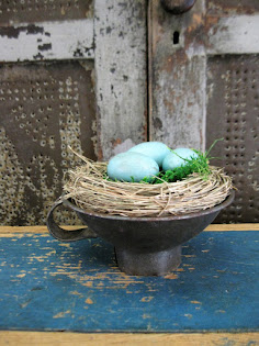 a nest in a funnel
