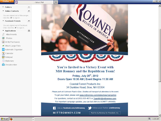 Mitt Romney is a SPAMMER