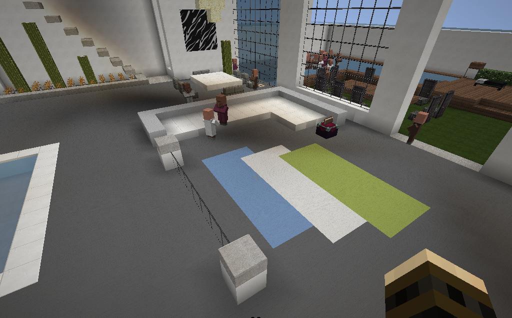 sala de estar moderna minecraft id ias