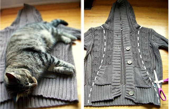 Como cortar un sweater de lana cardigan with buttons - Reciclar restos de lana ...