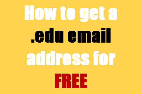 how to get an edu email address free