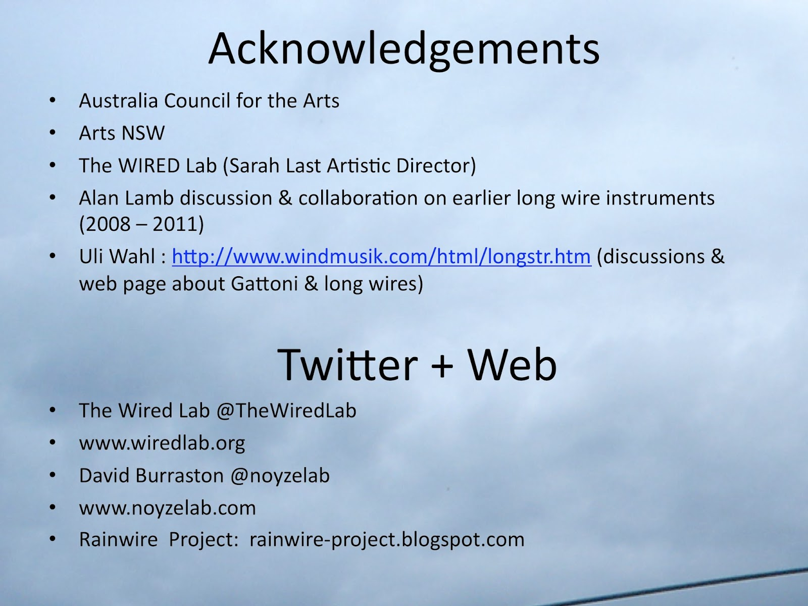 the rainwire project: Rainwire Prototype: An Environmental ...