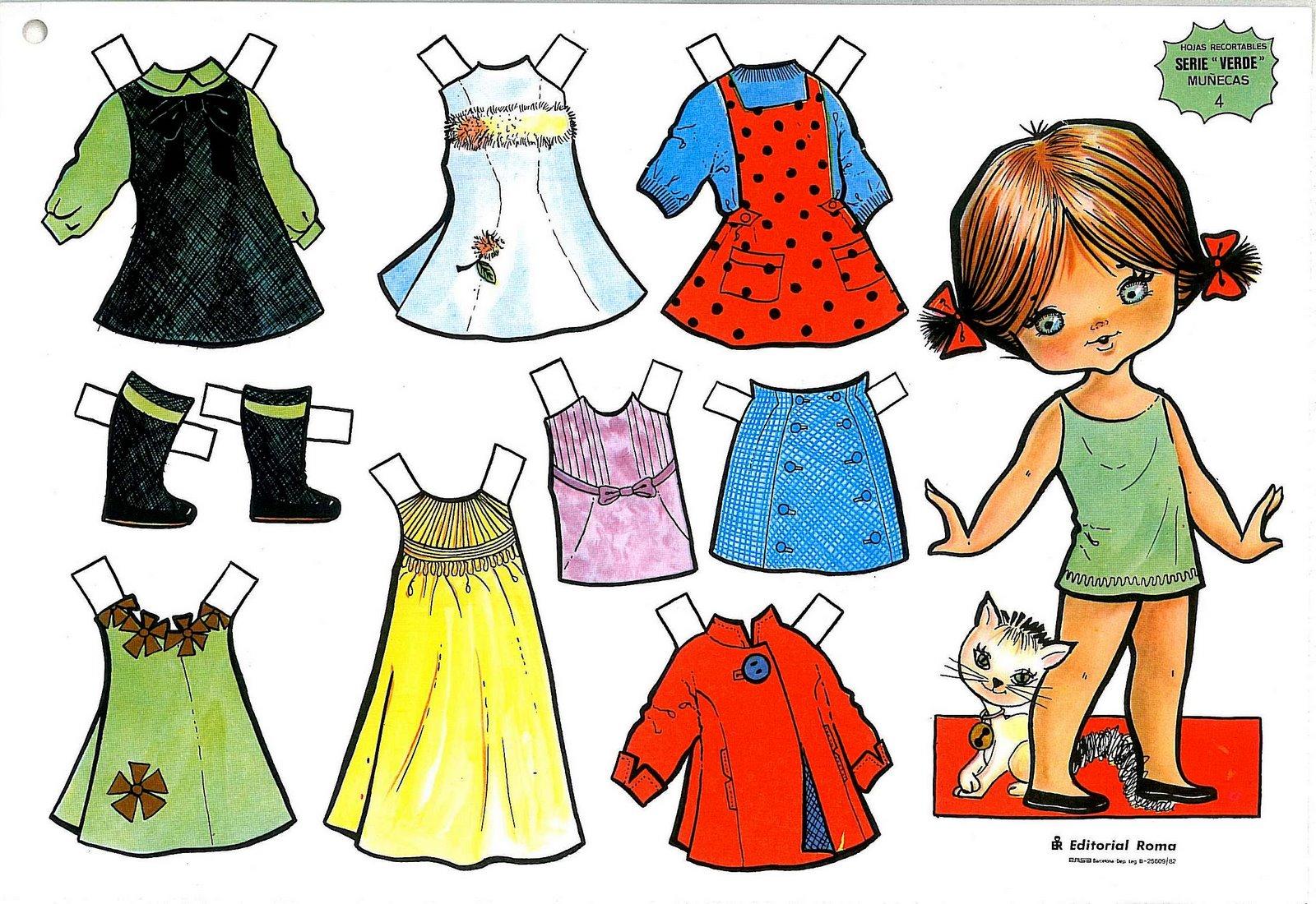 Rayito de Colores: Muñecas para vestir paper dolls