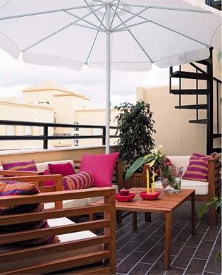 foto terraza acogedora
