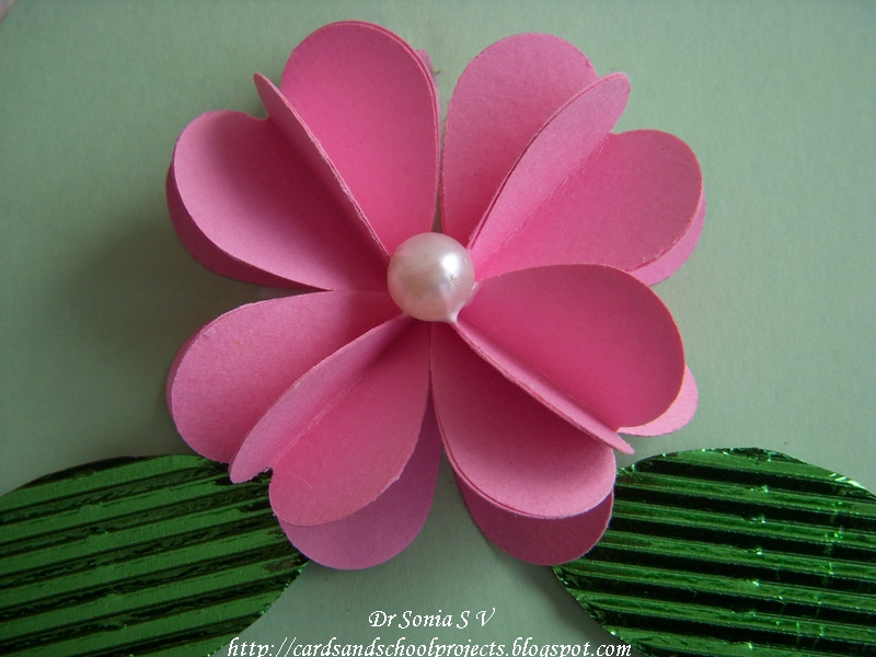 cards crafts kids projects heart punch 3 d flower tutorial