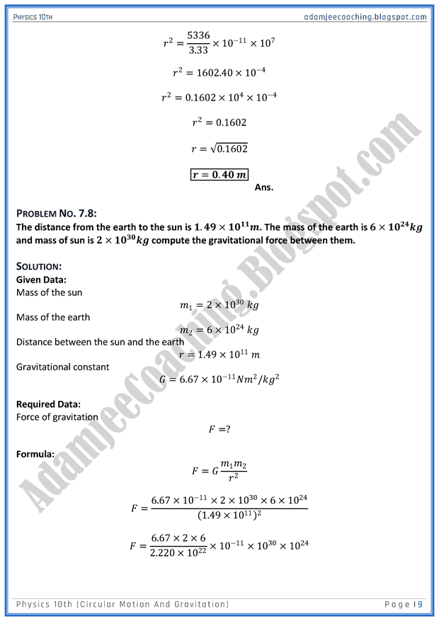 circular-motion-and-gravitation-solved-numericals-physics-10th
