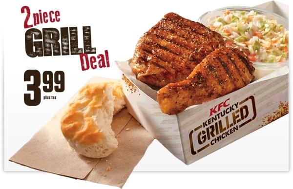 News: KFC - $3.99 2-Piece Grill Deal | Brand Eating