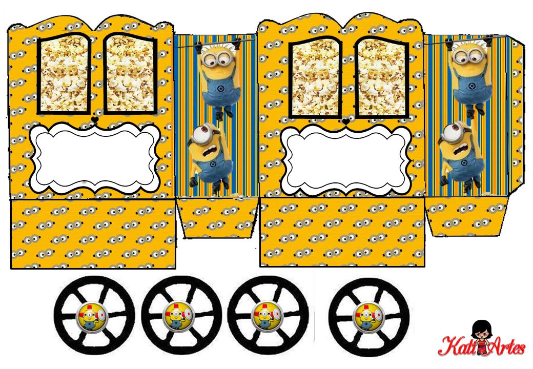 Minions Caja Con Forma De Carruaje Para Imprimir Gratis Ideas Y Material Gratis Para Fiestas
